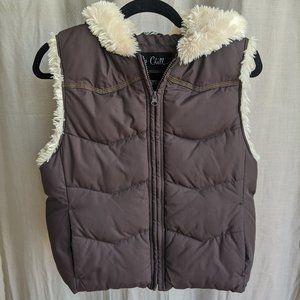 Faux Fur Puffer Jacket Vest